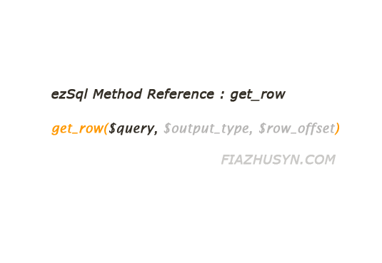 function get_row